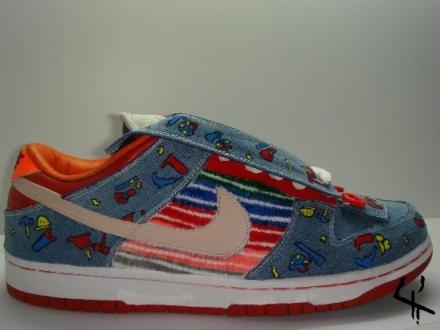 buy popular 358c4 09699 nike-sb-dunk-good-guys-doll-custom-sneaker-